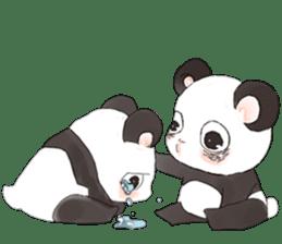 Naughty cute panda sticker #13945811