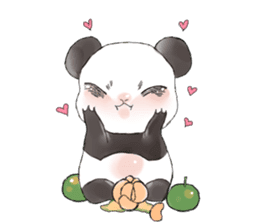 Naughty cute panda sticker #13945812