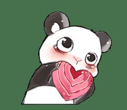 Naughty cute panda sticker #13945813