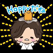 สติ๊กเกอร์ไลน์ Jin × gudetama Animated Stickers
