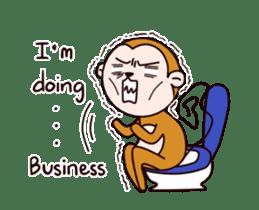 Monkey don't know sticker #13947999