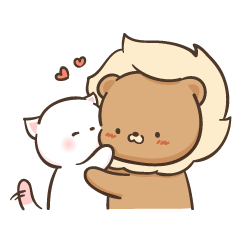 Lion and Kitty, adorable couple Ver2.