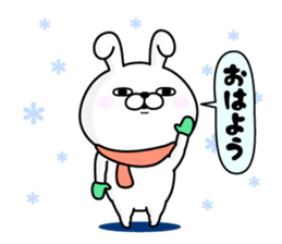 Rabbit100% winter sticker #13962150