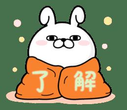 Rabbit100% winter sticker #13962152