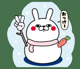 Rabbit100% winter sticker #13962153