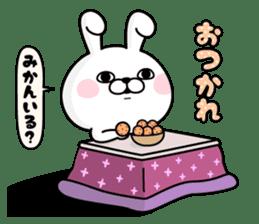 Rabbit100% winter sticker #13962154