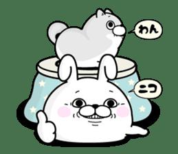 Rabbit100% winter sticker #13962155