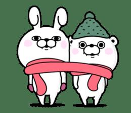 Rabbit100% winter sticker #13962156