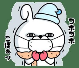 Rabbit100% winter sticker #13962159
