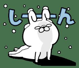 Rabbit100% winter sticker #13962161