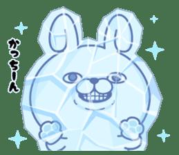 Rabbit100% winter sticker #13962167