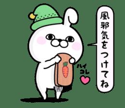 Rabbit100% winter sticker #13962168