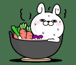 Rabbit100% winter sticker #13962171
