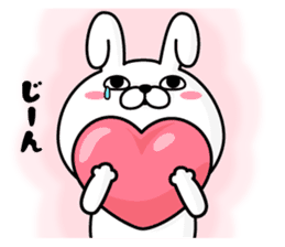 Rabbit100% winter sticker #13962173
