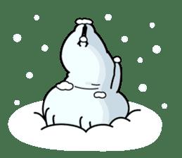 Rabbit100% winter sticker #13962176