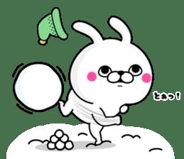 Rabbit100% winter sticker #13962178
