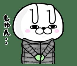 Rabbit100% winter sticker #13962180
