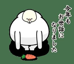 Rabbit100% winter sticker #13962187