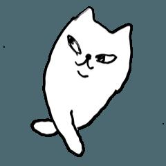 neko cat senpai with friends Sticker