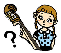 Double Bass Girl (English Ver.) sticker #13976377