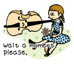 Double Bass Girl (English Ver.) sticker #13976395