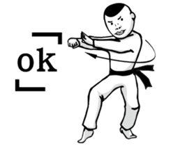 kung fu Staff sticker #13978335