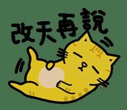Fumeancats-Cat's jibber-jabber sticker #13982206