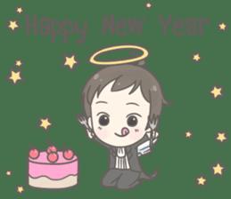Angelito : Happy New Year sticker #13990028