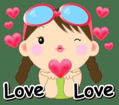 Chubby and cute, Nenemaru sticker sticker #13991542
