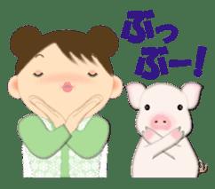 Chubby and cute, Nenemaru sticker sticker #13991576