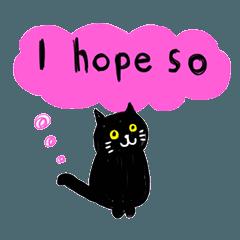 Sticker of black cats