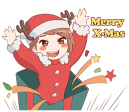Cute Xmas Girl sticker #13995222