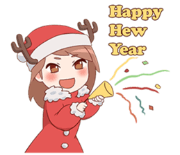 Cute Xmas Girl sticker #13995223