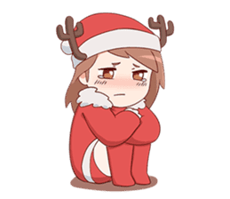 Cute Xmas Girl sticker #13995230