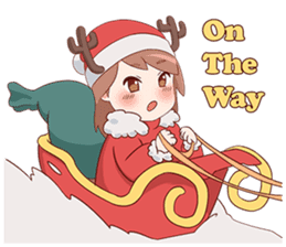 Cute Xmas Girl sticker #13995233