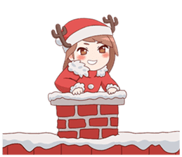 Cute Xmas Girl sticker #13995243