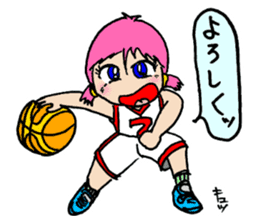 Ai-chan, Women's basketball entrance sticker #14002316