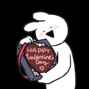 สติ๊กเกอร์ไลน์ Extremely Rabbit Animated Valentine