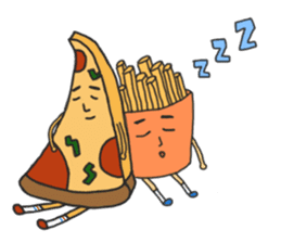 Pizza xi and French fries xi sticker #14004602