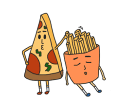 Pizza xi and French fries xi sticker #14004603