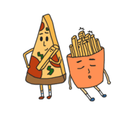 Pizza xi and French fries xi sticker #14004604