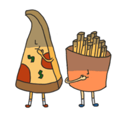 Pizza xi and French fries xi sticker #14004609