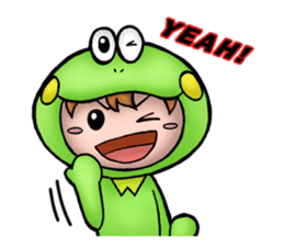 Mog the Frog Boy sticker #14008031