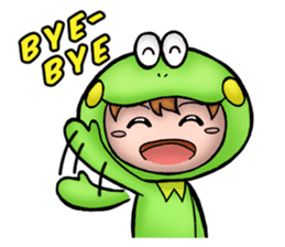 Mog the Frog Boy sticker #14008032