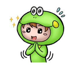 Mog the Frog Boy sticker #14008038