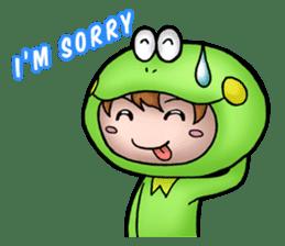 Mog the Frog Boy sticker #14008041