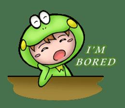 Mog the Frog Boy sticker #14008047