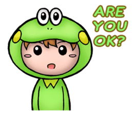 Mog the Frog Boy sticker #14008052