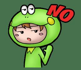 Mog the Frog Boy sticker #14008061