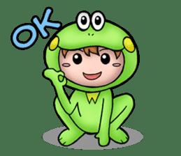 Mog the Frog Boy sticker #14008066